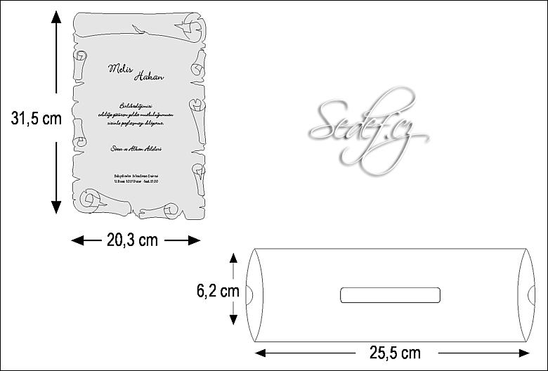 Rozměry svatebního oznámení 2468
