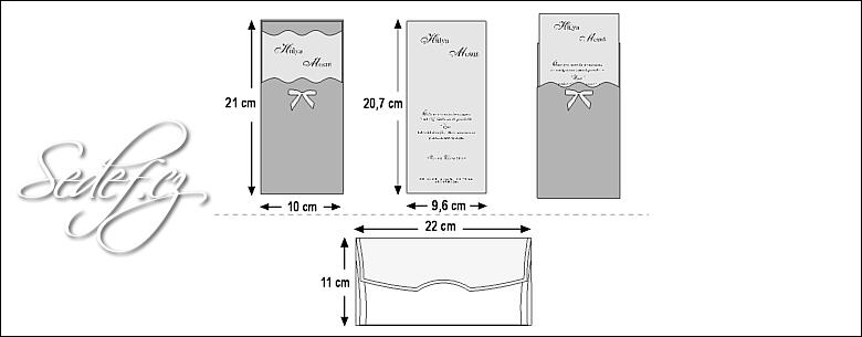 Rozměry svatebního oznámení 3583