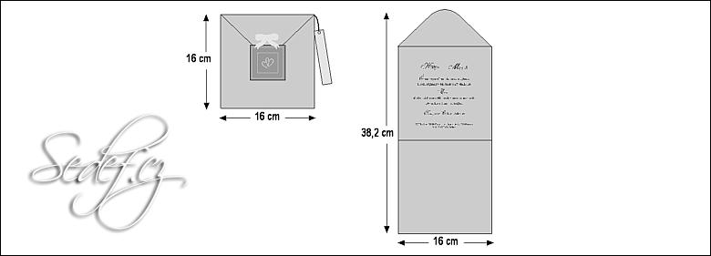 Rozměry svatebního oznámení 3606