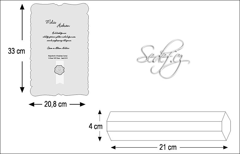 Rozměry svatebního oznámení 5301