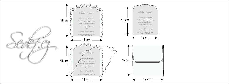 Rozměry svatebního oznámení 5354