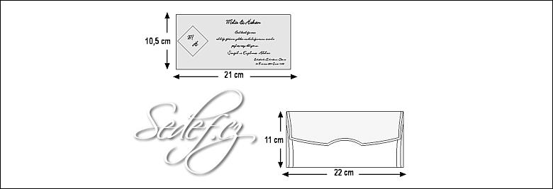 Rozměry svatebního oznámení 5402
