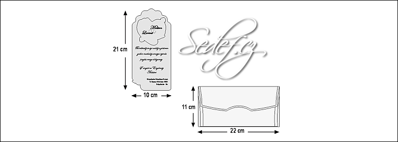 Rozměry svatebního oznámení 5403